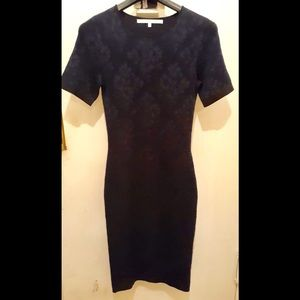 RACHEL ROY SHORT SLEEVES NAVY SWEATER DRESS